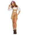 Oktoberfest lederhose camel voor dames