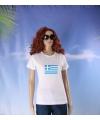 Griekse vlag t-shirt voor dames
