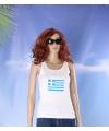 Griekse vlag tanktop/ t-shirt voor dames