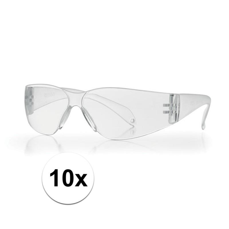 Afbeelding van 10x Vuurwerkbril transparant voor kinderen