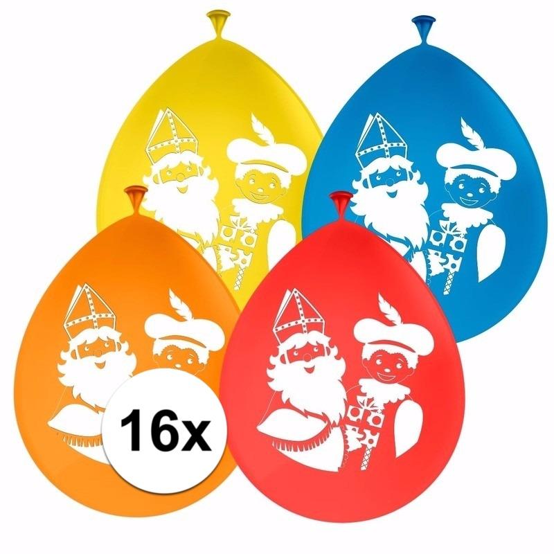 16x Sinterklaas decoratie ballonnen