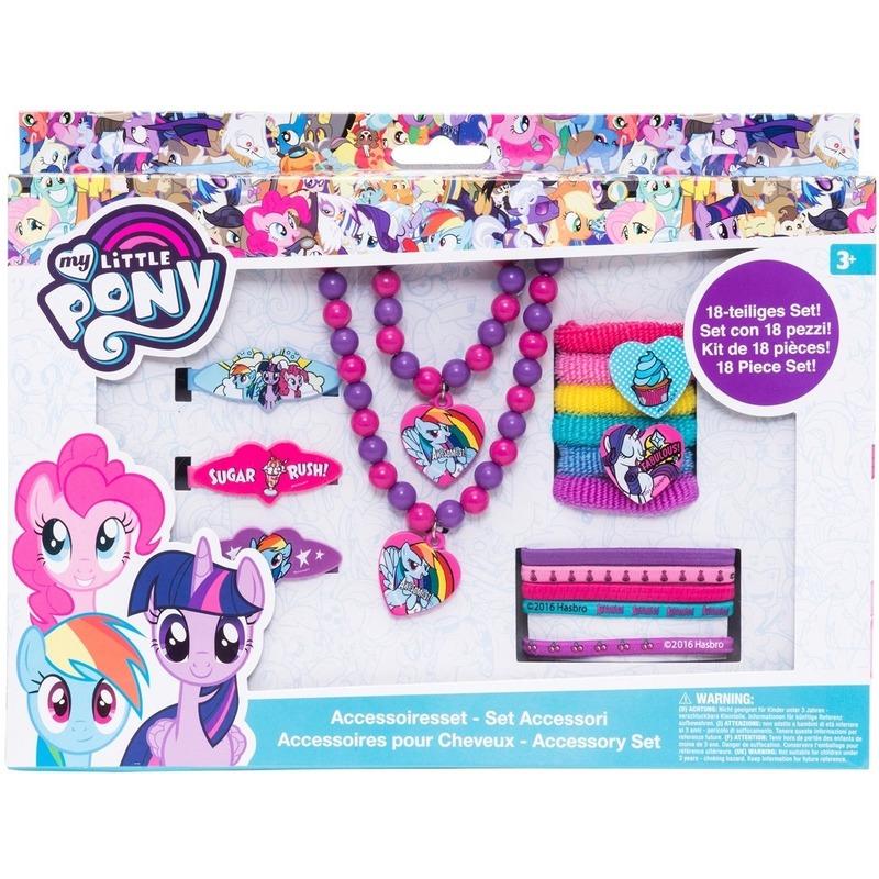 18x My Little Pony haarelastieken-sieraden Rarity-Rainbow Dash-Pinkie Pie voor meisjes