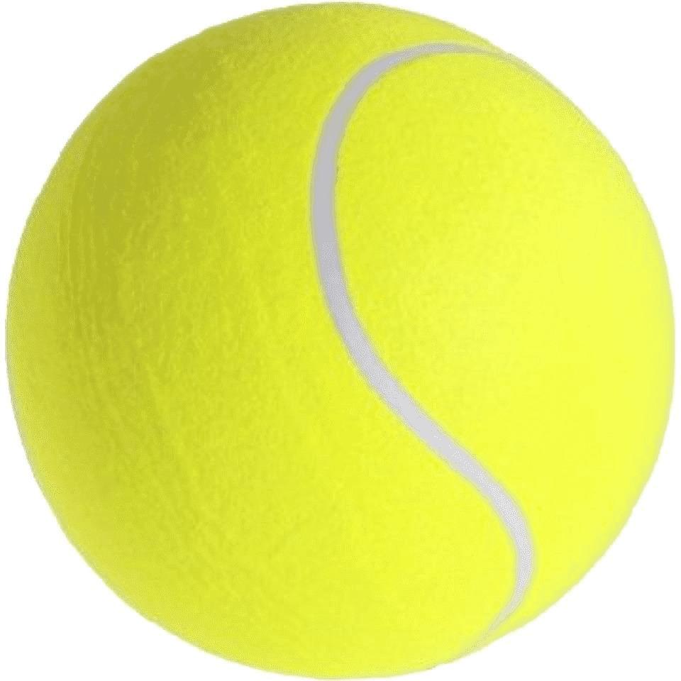 1x Grote tennisballen XXL 22 cm buitenspeelgoed