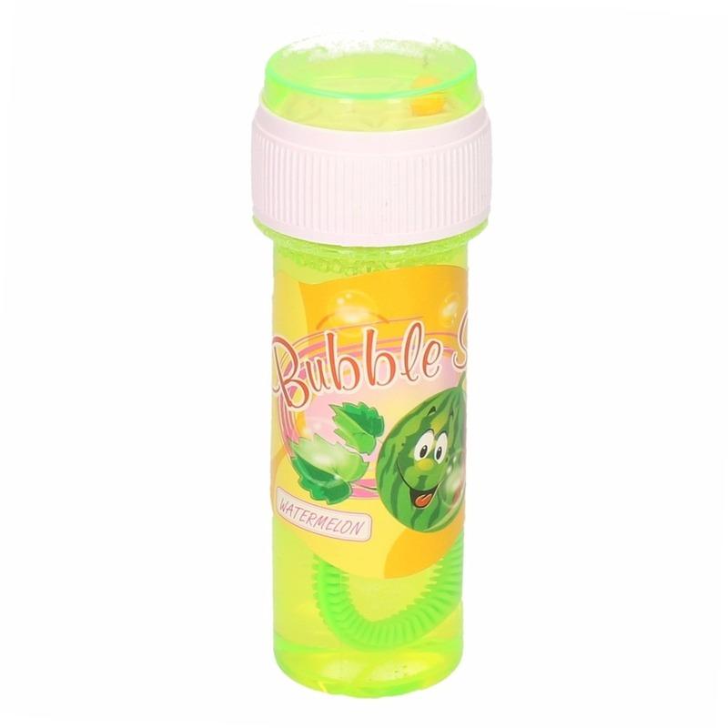 1x Kinder bellenblaas met meloengeur 60 ml gekleurd flesje