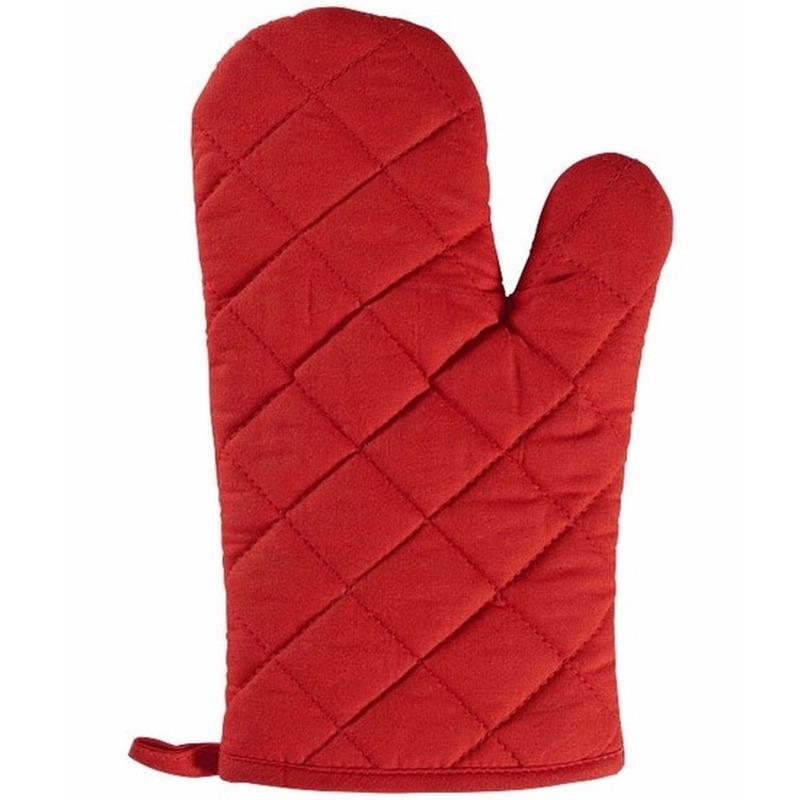 1x Ovenwanten-ovenhandschoenen rood voor volwassenen