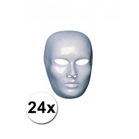 Afbeelding van 24 witte heren gezicht maskers