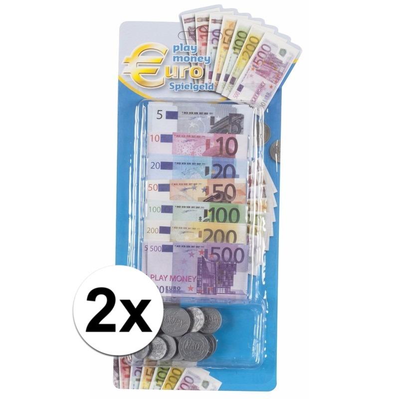 Afbeelding van 2x 90 delige speelgeld set voor kinderen
