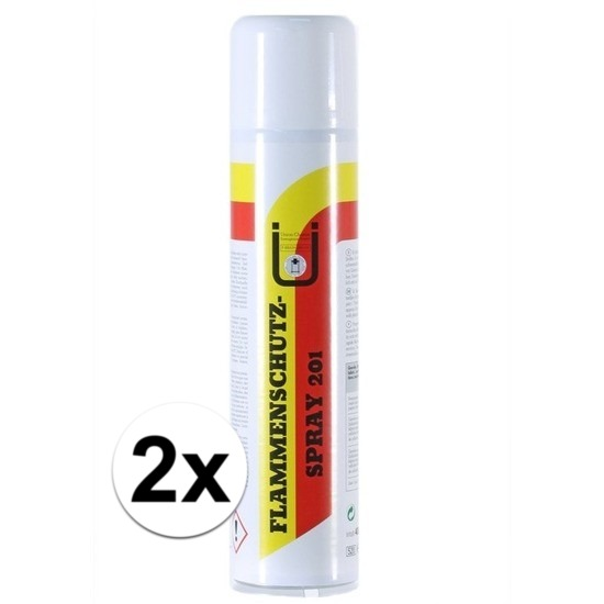 2x brandvertragende decoratie en versiering impregneer spray 400 ml