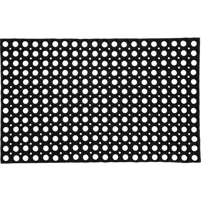 2x Deurmatten-buitenmatten rubber 50 x 80 cm