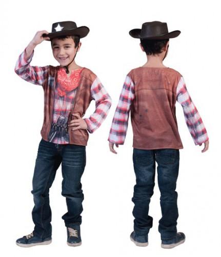 Afbeelding van 3D Cowboy shirt voor kinderen