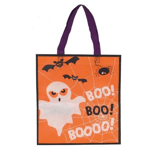 Afbeelding van 3x Halloween snoeptasjes oranje voor kinderen