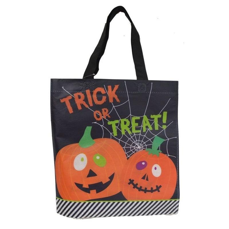 Afbeelding van 3x Halloween snoeptasjes zwart voor kinderen