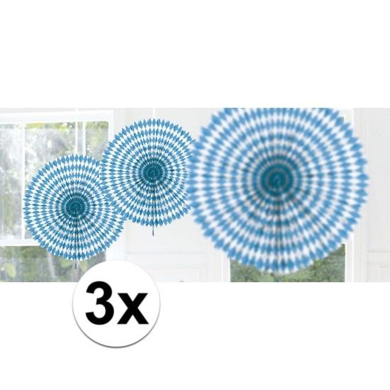 3x Honeycomb waaier oktoberfest 45 cm