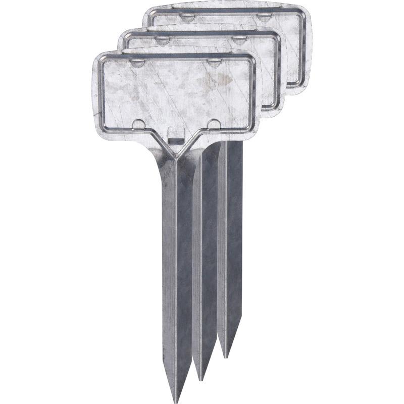 3x Kweekkast steeketiketten 18 cm zilver