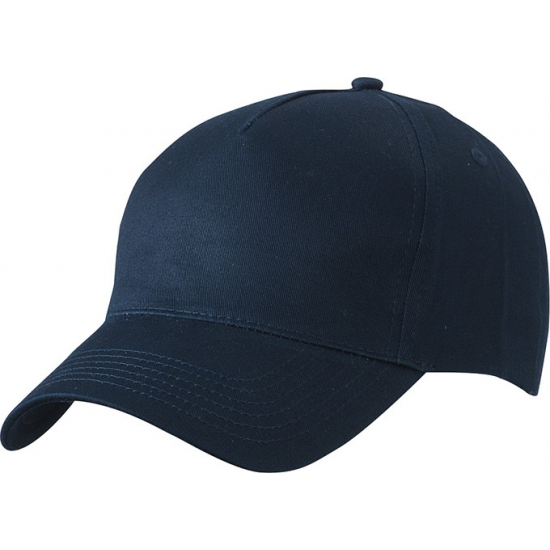 5 panel baseball cap navy dames en heren