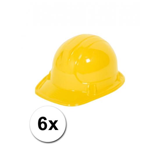Afbeelding van 6 bouwhelmen voor kinderen
