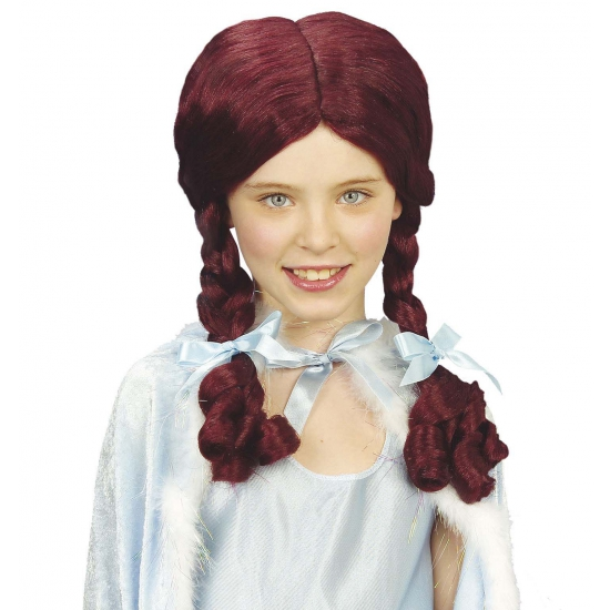 Afbeelding van Alice pruik aubergine voor kinderen