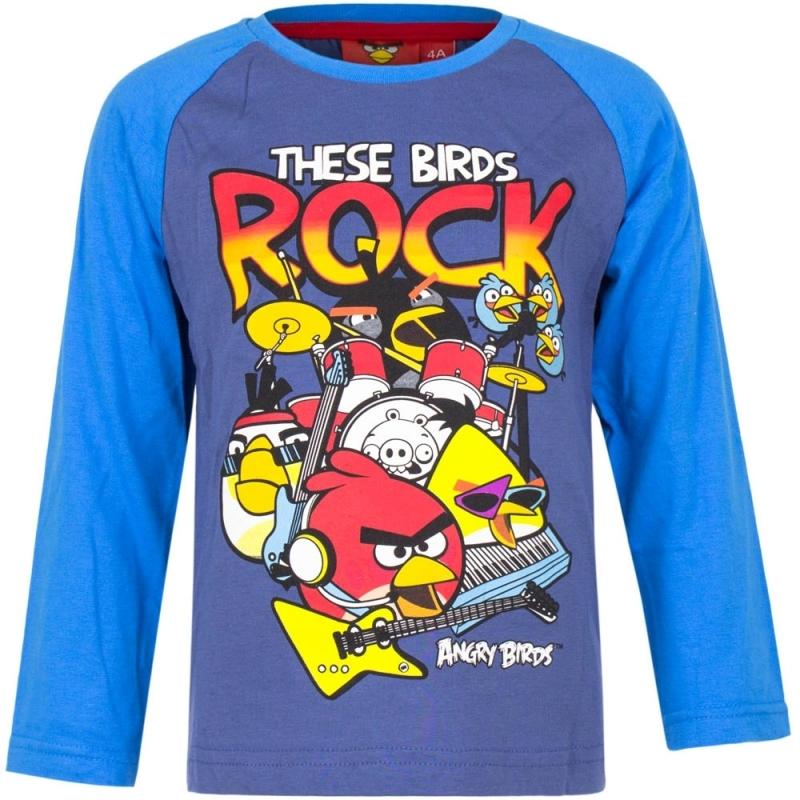 Angry Birds shirt lange mouw blauw voor jongens