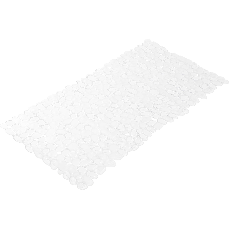 Anti-slip bad-douchemat met stenenpatroon transparant 35 x 70 cm