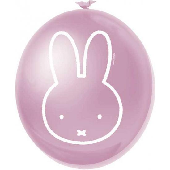 Babyshower Nijntje ballonnen roze