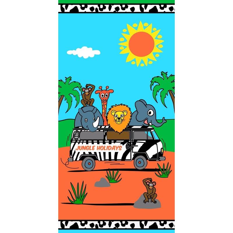 Badlaken Jungle voor kinderen 70 x 140 cm