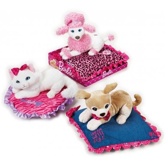 Barbie kinderkamer decoratie witte kat knuffel