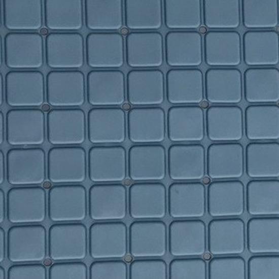 Blauwe douchemat anti-slip 55 x 55 cm