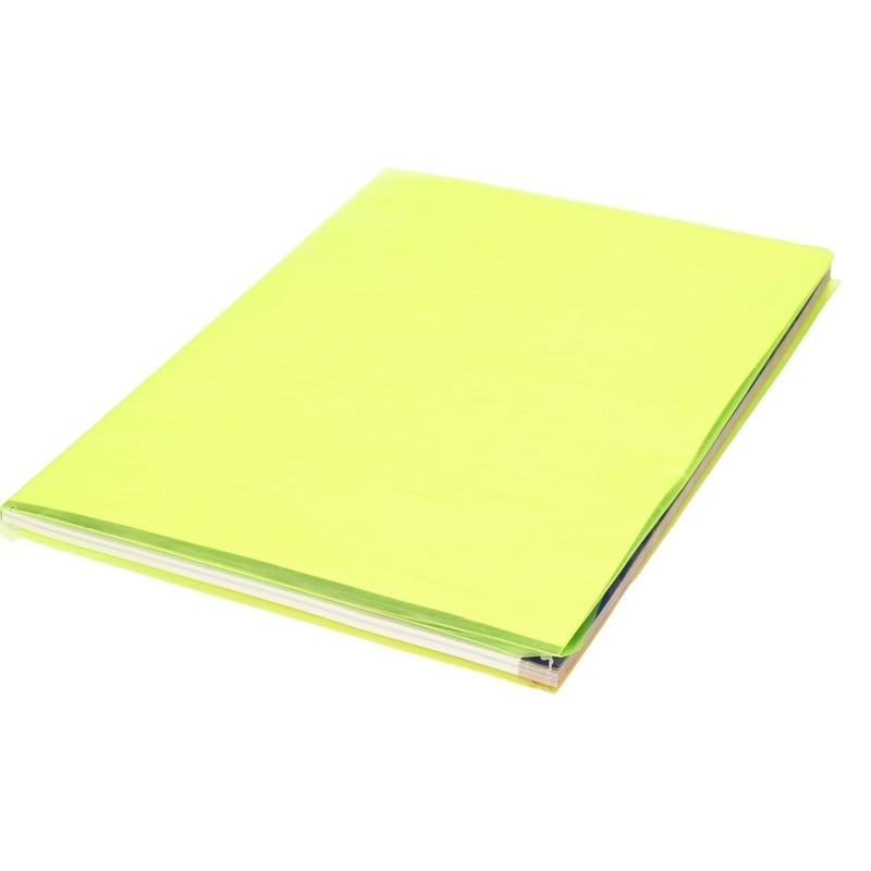 Boeken kaften kaftfolie neon geel 3 meter