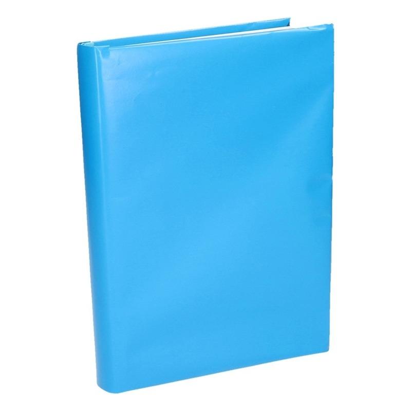 Boeken kaften rol blauw papier 200 cm