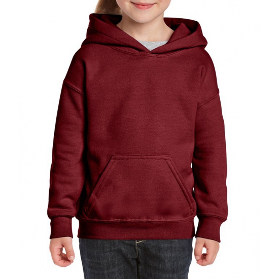 Bordeaux rode hooded meisjes sweater