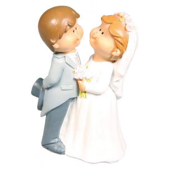 Bruidspaar trouwfiguurtje voor de bruidstaart 11 cm