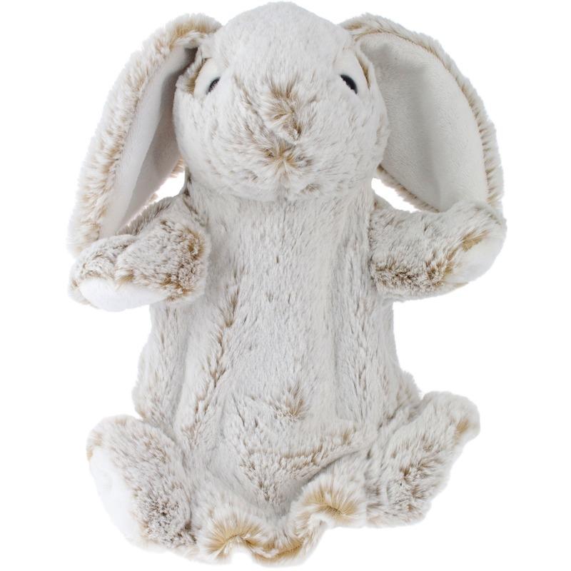 Bruine konijn-haas handpoppen knuffels 25 cm knuffeldieren