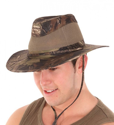 Camouflage hoed voor heren