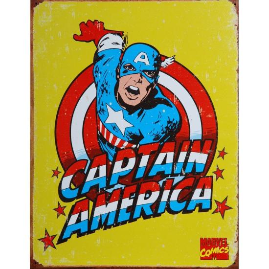 Captain America muurdecoratie metaal 32 x 41 cm