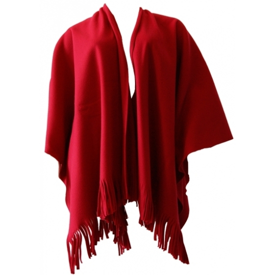 Dames mantel / cape poncho rood