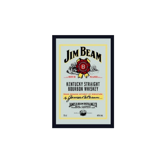 Decoratie spiegel Jim Beam