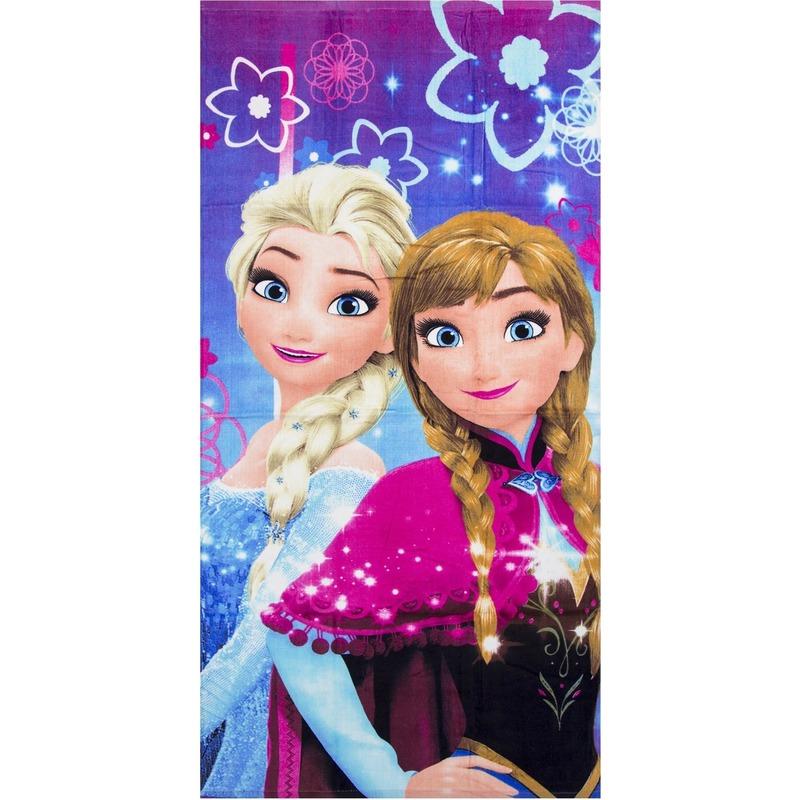 Disney Frozen badlaken paars/roze 70 x 140 cm