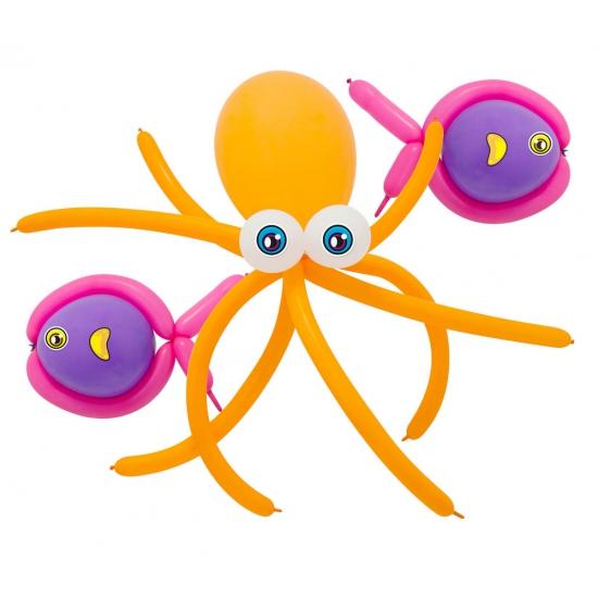 Doe het zelf ballon set octopus en vissen