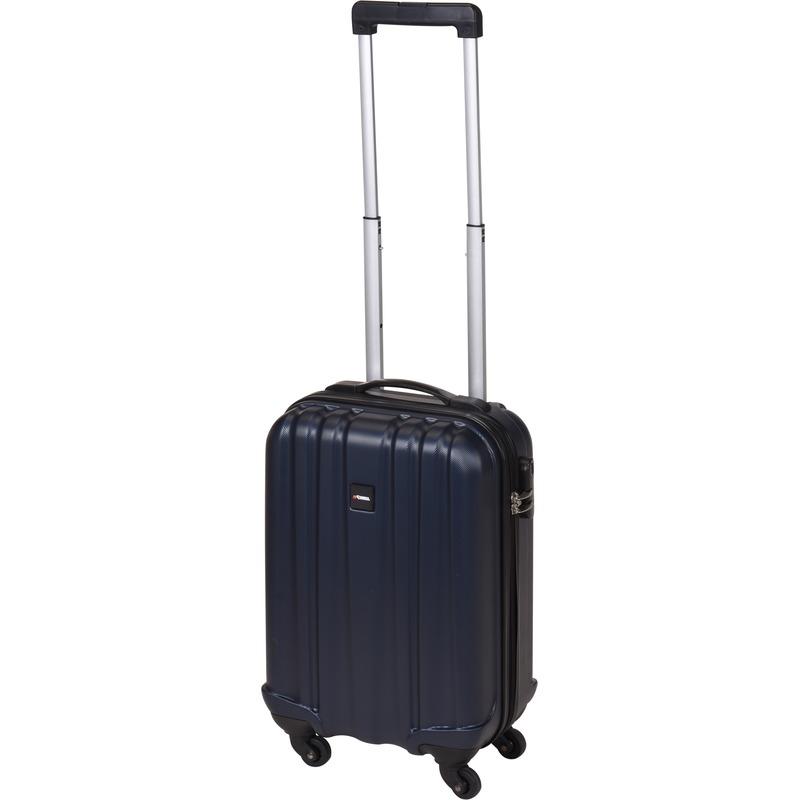 Donker blauwe kleine trolley-koffer 45 cm