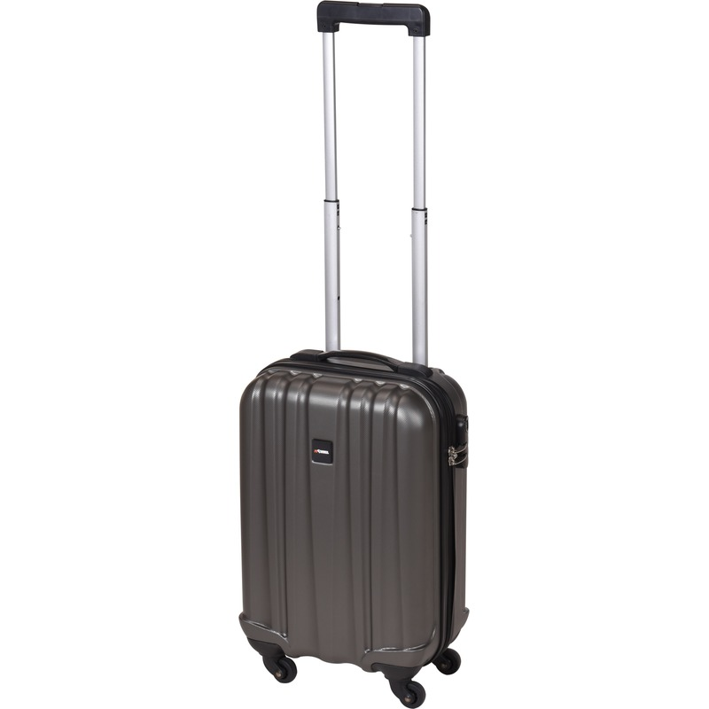 Donkergrijze kleine trolley-koffer 45 cm