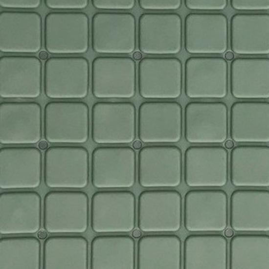 Donkergroene douchemat anti-slip 55 x 55 cm