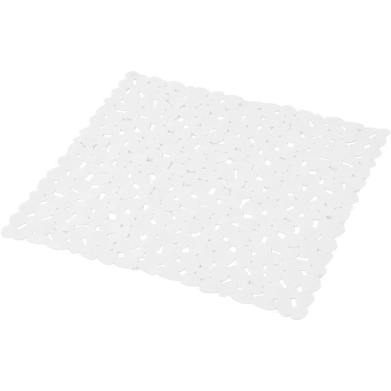 Douchecabine ruwe anti-slip mat wit 52 x 52 cm met stenen patroon