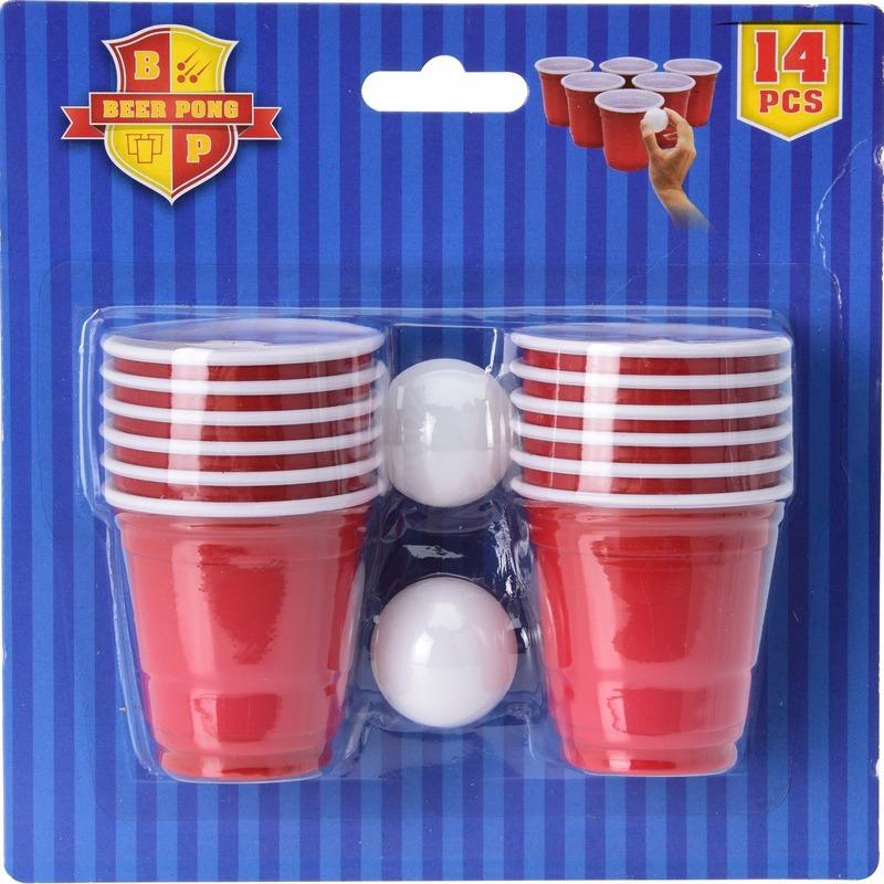 Drinkspelletjes Beer Pong 14 delig