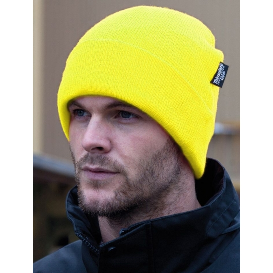 Extra warme winter skimuts fel geel