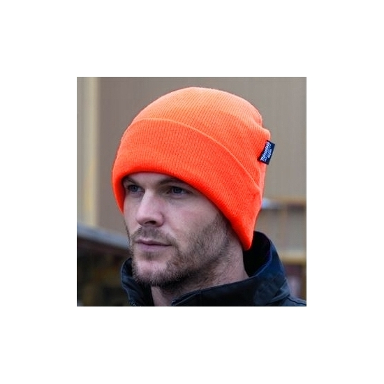 Extra warme winter skimuts oranje