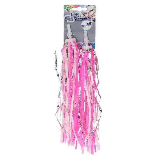 Fiets handvaten decoratie slierten roze
