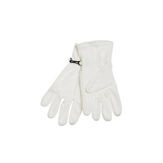 Fleece handschoenen naturel wit voor volwassenen
