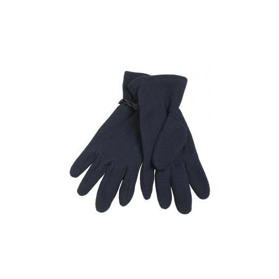 Fleece handschoenen navy blauw voor volwassenen