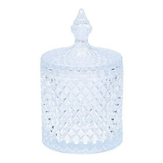 Glazen voorraadpot met deksel 19,5 cm