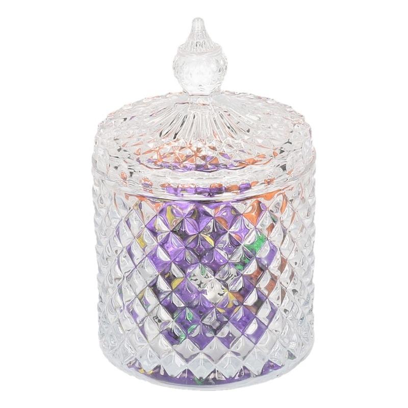 Glazen voorraadpot voor paaseitjes 19,5 cm